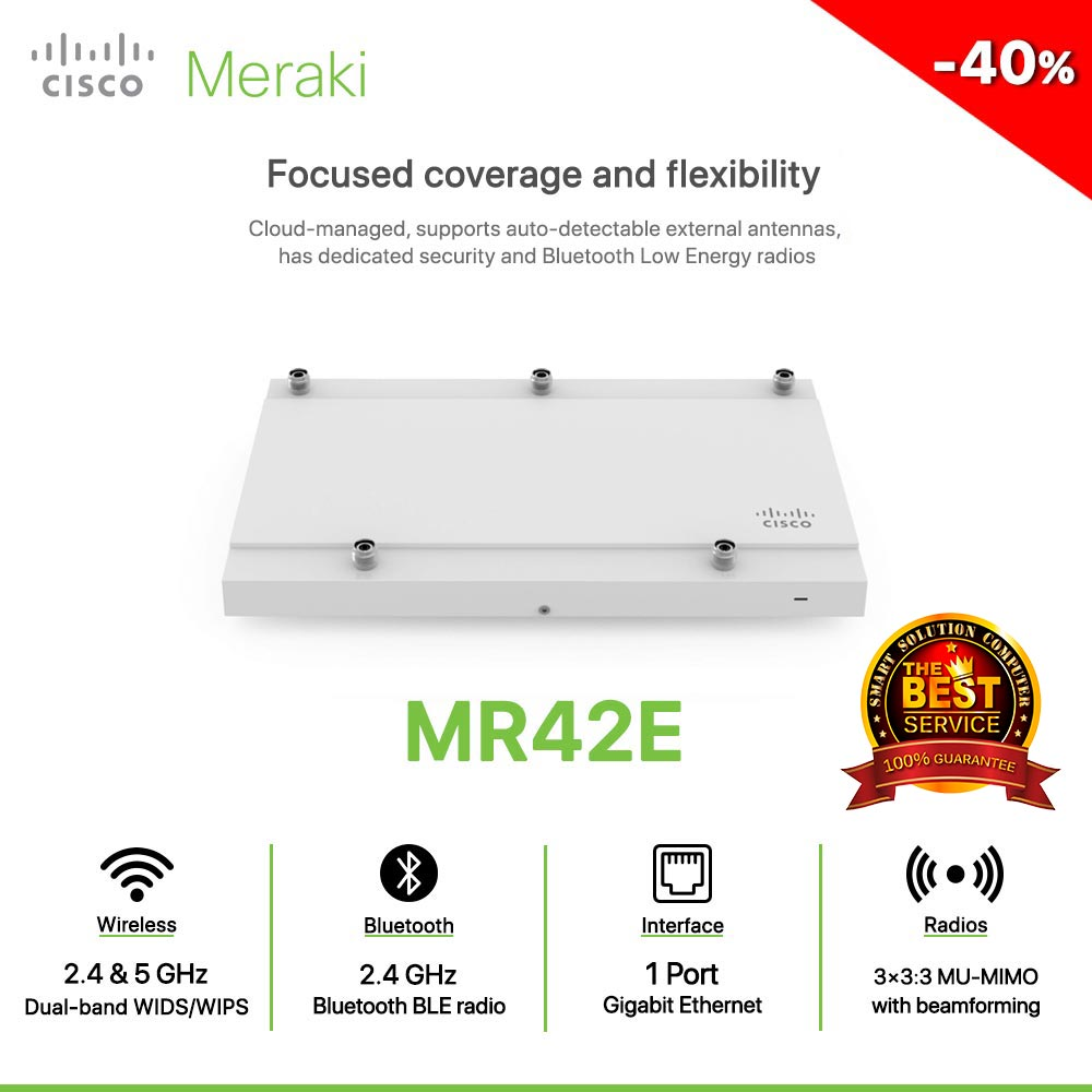 Cisco Meraki MR42E Focused coverage and flexibility