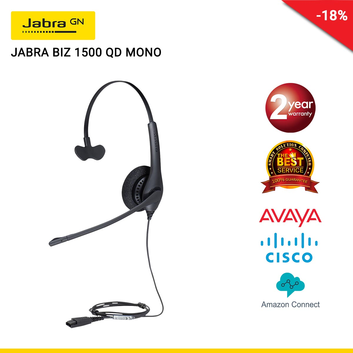JABRA BIZ 1500 QD MONO (JBA-1513-0157)