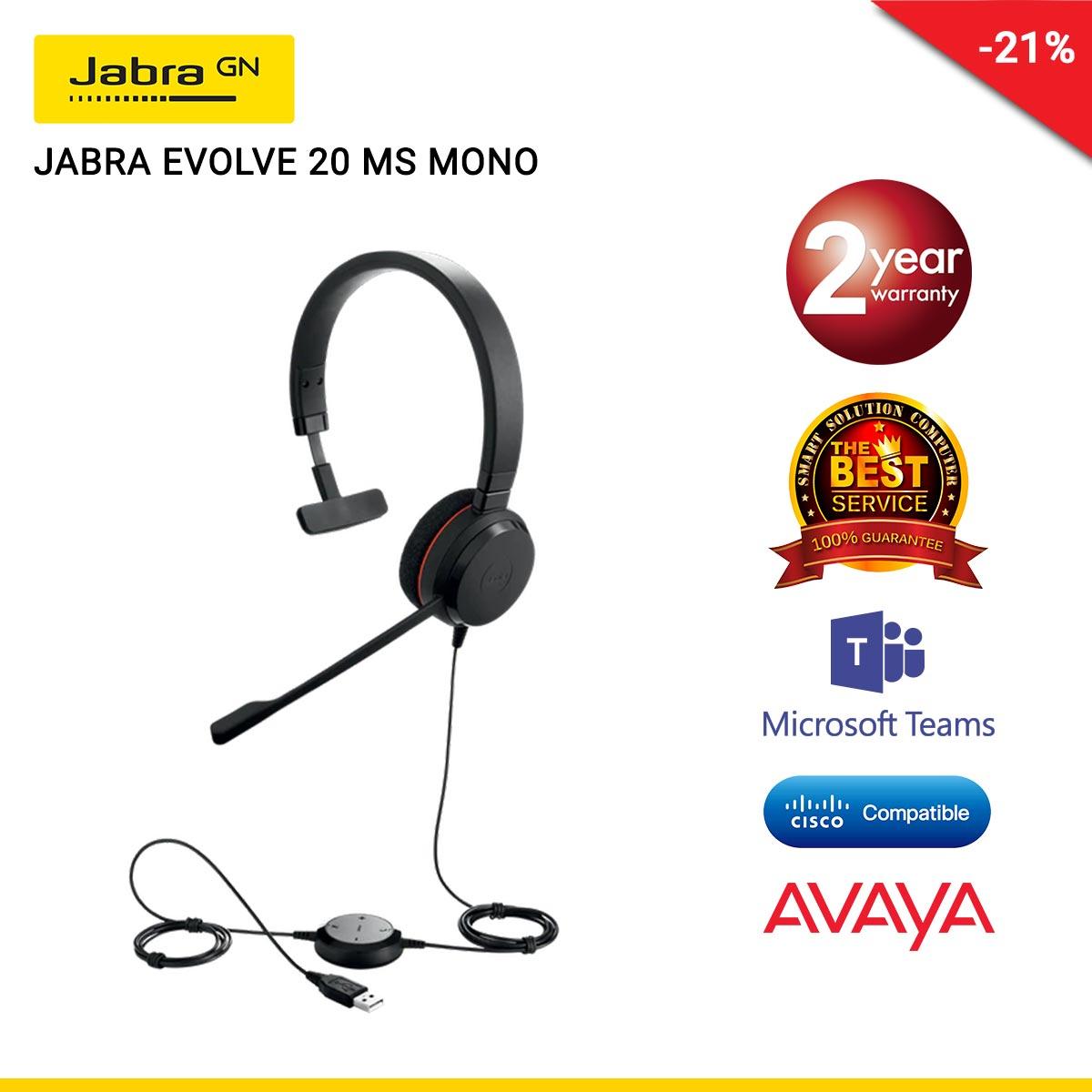JABRA EVOLVE 20 MS MONO (JBA-4993-823-109)