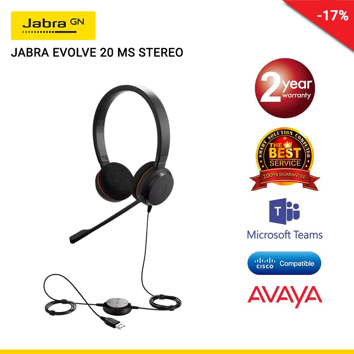 JABRA EVOLVE 20 MS STEREO (JBA-4999-823-109)