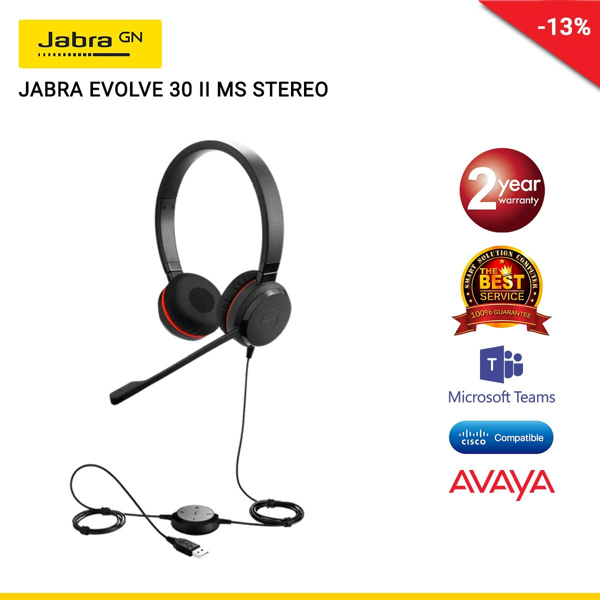 JABRA EVOLVE 30 II MS STEREO (JBA-5399-823-309)