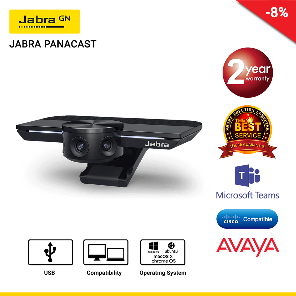 JABRA PANACAST กล้อง Intelligent 180° 4K สำหรับการประชุมทางไกล