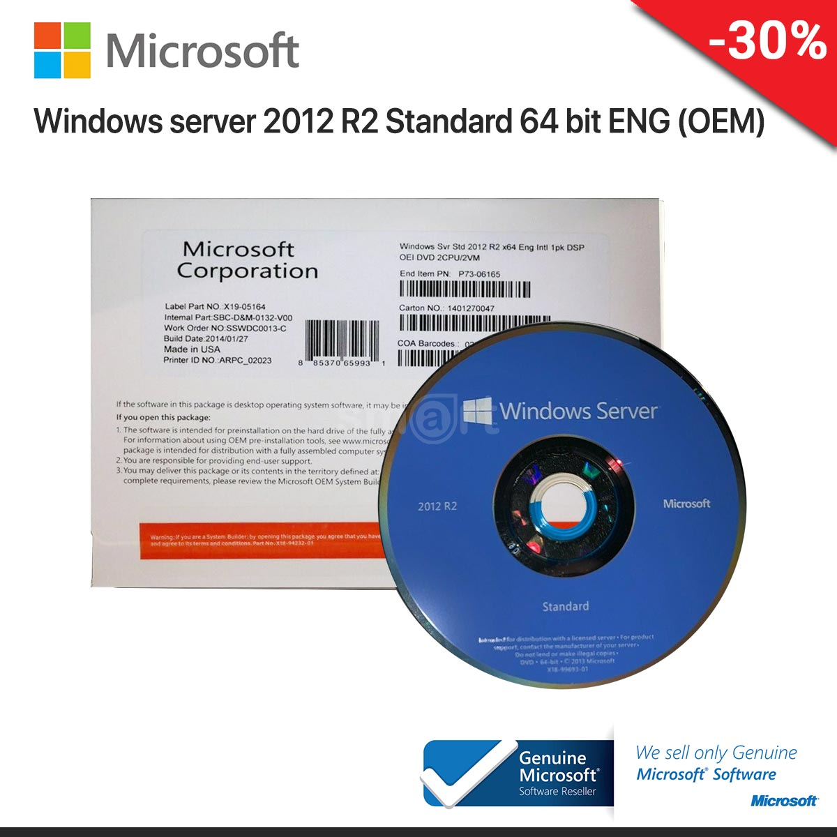 Windows server 2012 R2 Standard 64 bit ENG (OEM)