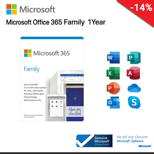 Microsoft Office 365 Family 1 Year (6GQ-00968)