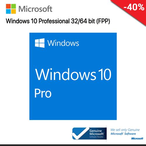 Microsoft Windows 10 Professional (FQC-10070) 32-bit/64-bit Eng Intl USB RS (FPP)