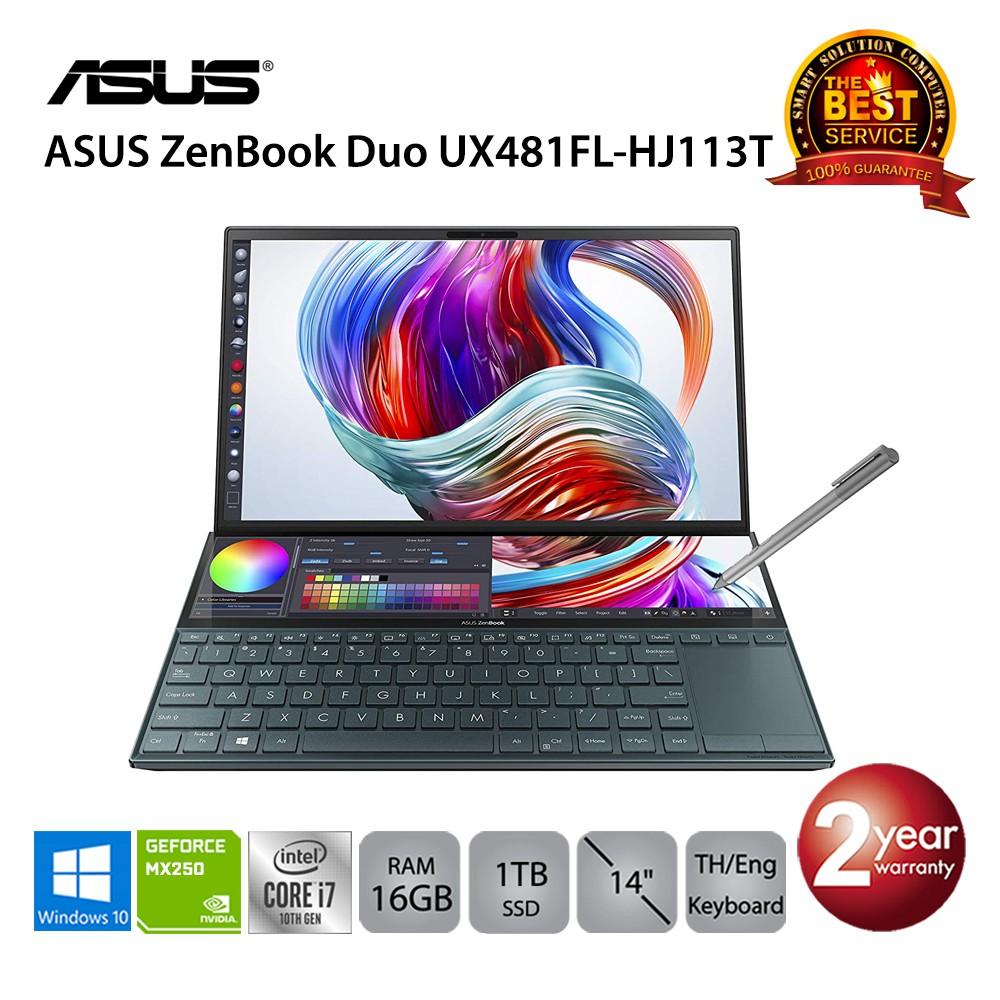 Asus ZenBook Duo UX481FL-HJ113T i7-10510U/16GB/1TB SSD/MX250/14.0/Win10 (Celestial Blue)