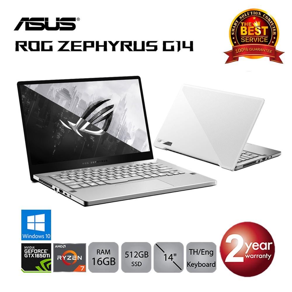 Asus ROG Zephyrus G14 GA401II-HE046T Ryzen7/16GB/512GBSSD/GTX1650Ti/14.0/Win10 (Moonlight White)