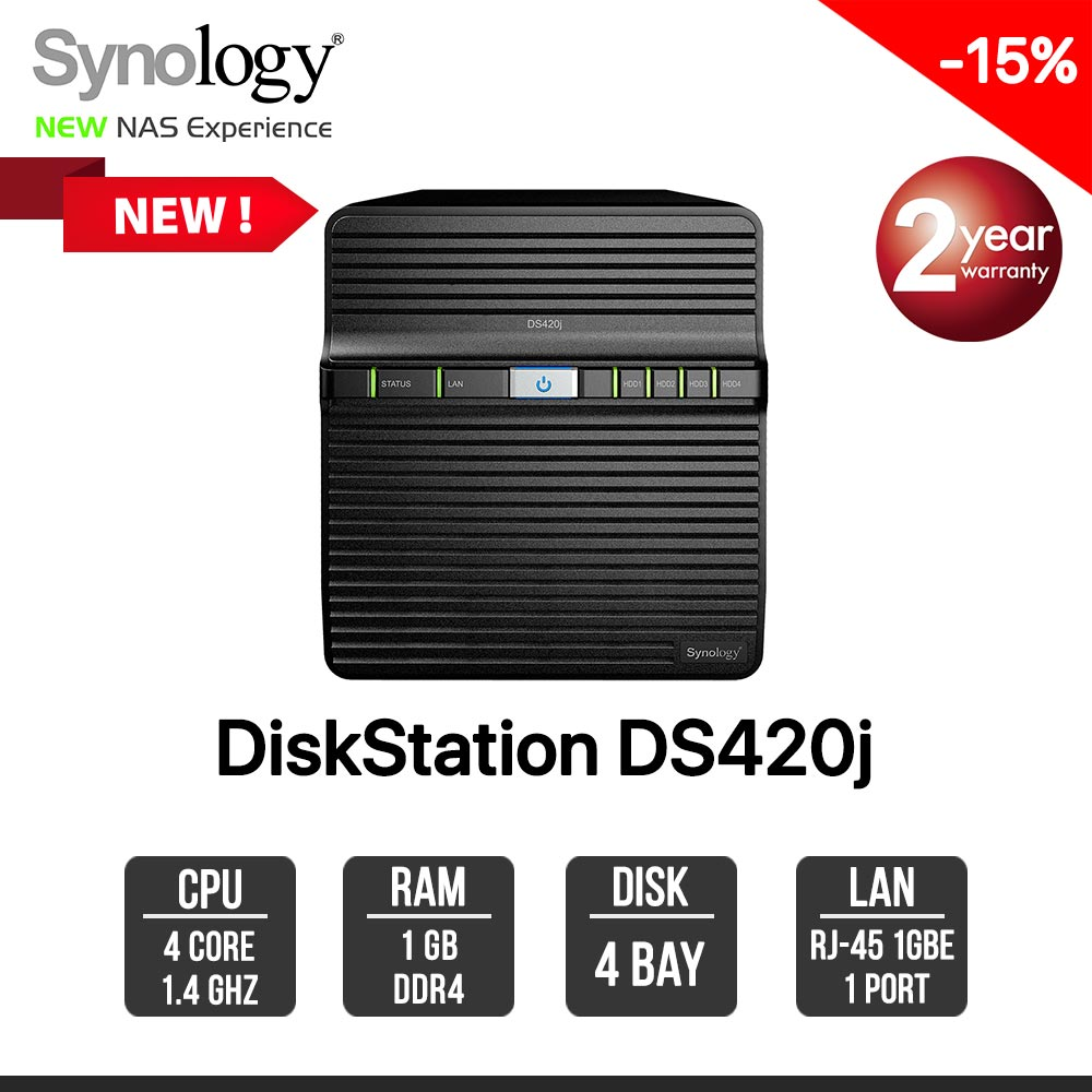 Synology DiskStation DS420J 4-bay NAS
