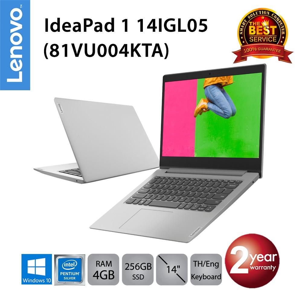 Lenovo IdeaPad 1 14IGL05 (81VU004KTA) Intel Pentium N5030/4GB/256GB SSD/14.0/Win10 (Platinum Gray)