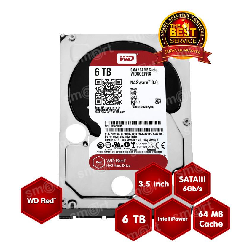 WD HD Caviar Red NAS 6TB WD60EFRX SATA3 3.5