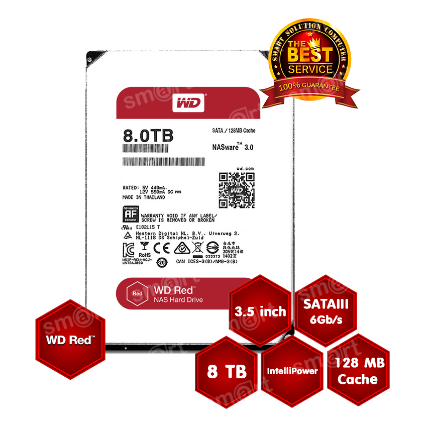 WD HD Caviar Red NAS 8TB WD80EFZX SATA3 3.5