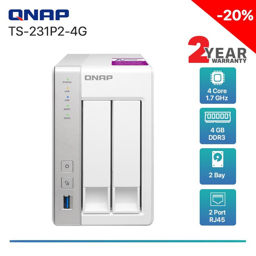 QNAP TS-231P2-4G 2-bay NAS