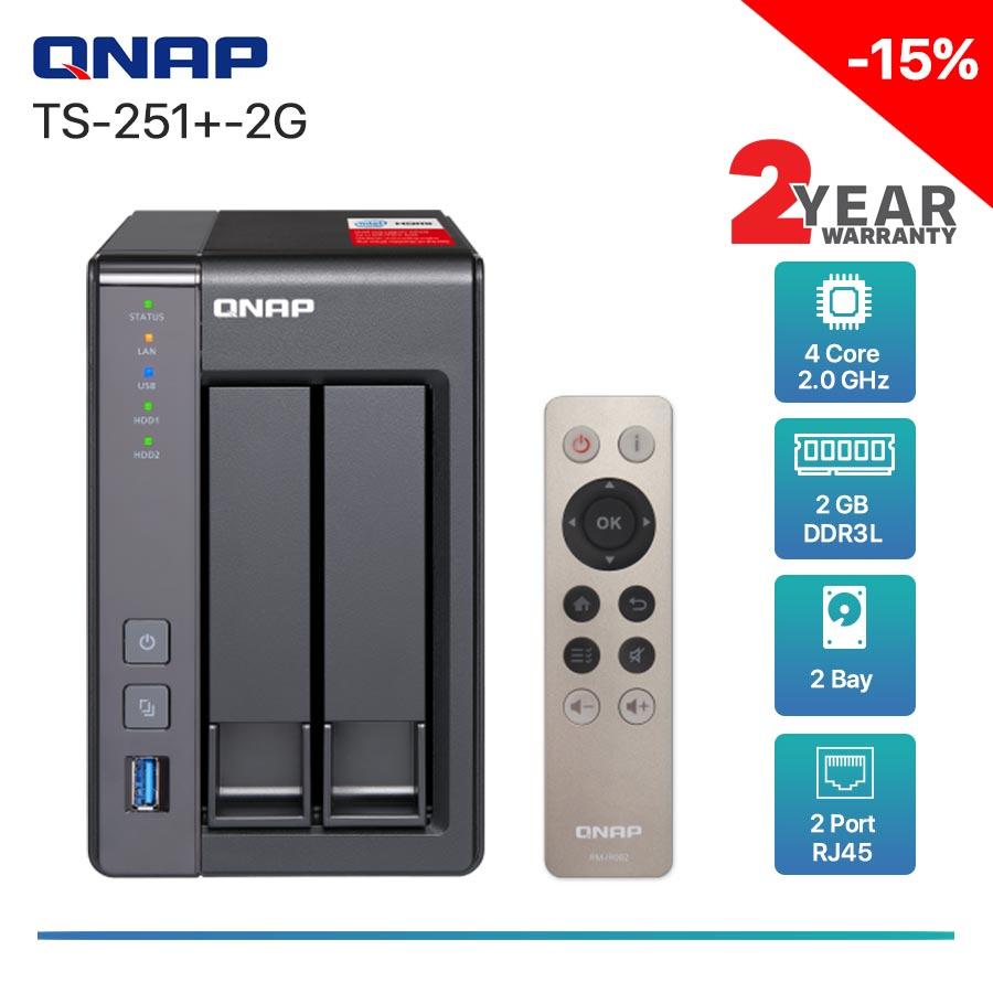 QNAP TS-251+-2G 2-bay NAS
