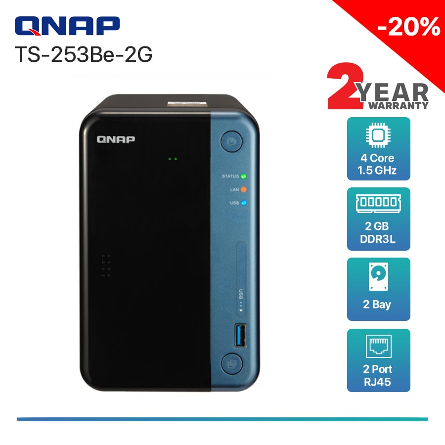 QNAP TS-253Be-2G 2-bay NAS