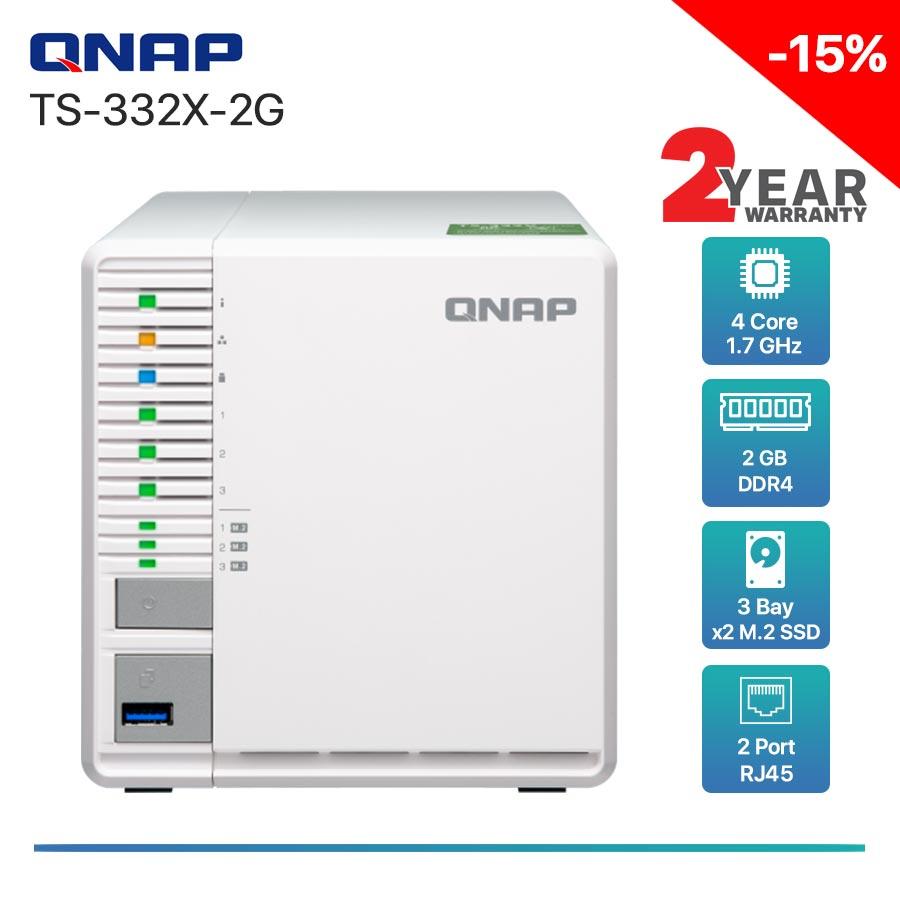 QNAP TS-332X-2G 3-bay NAS