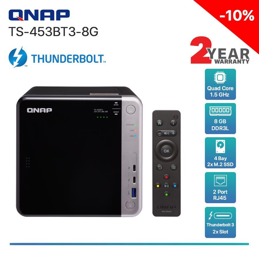 QNAP TS-453BT3-8G 4-Bay Thunderbolt