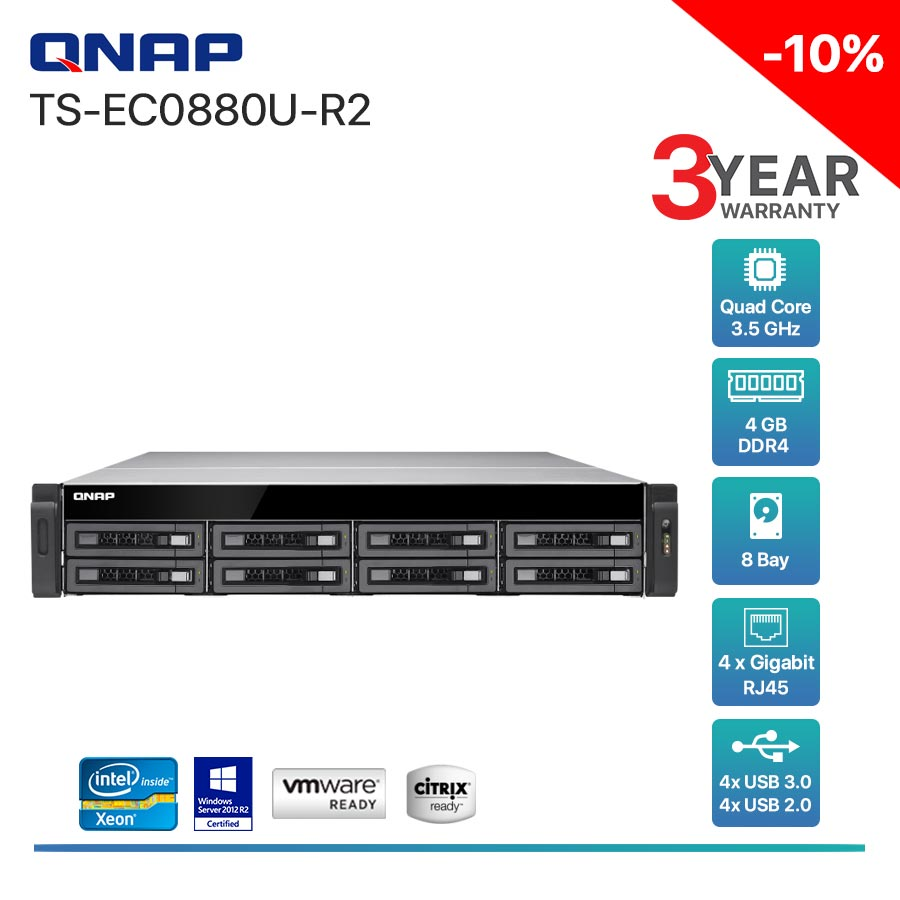 QNAP TS-EC880U R2  8-Bay + Rack mount