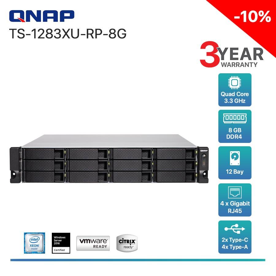 QNAP TS-1283XU-RP-8G 12-Bay + Rack mount