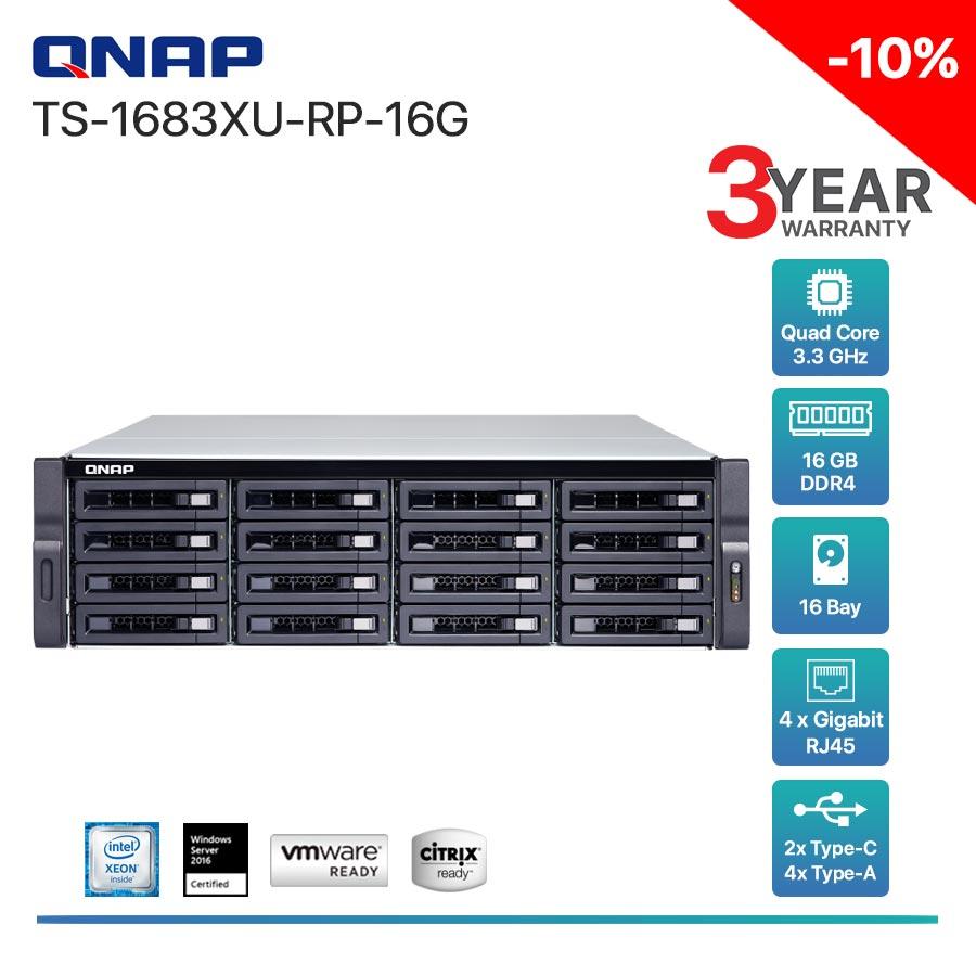 QNAP TS-1683XU-RP-16G 16-Bay + Rack mount