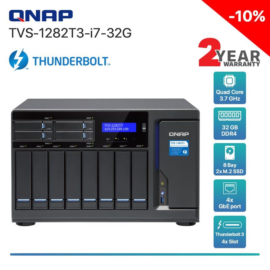 QNAP TVS-1282T3-i7-32G 8-Bay Thunderbolt