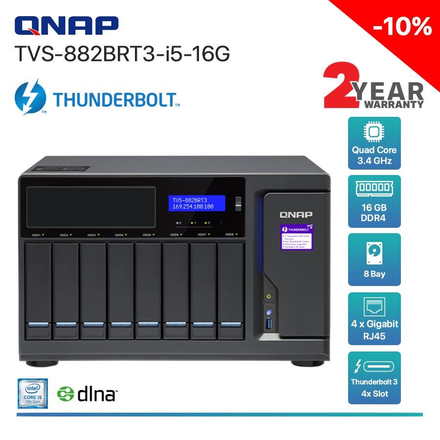 QNAP TVS-882BRT3-i5-16G 8-Bay Thunderbolt