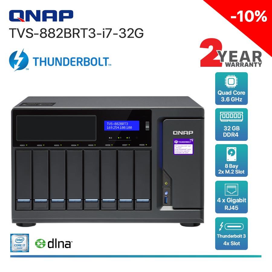 QNAP TVS-882BRT3-i7-32G  8-Bay Thunderbolt