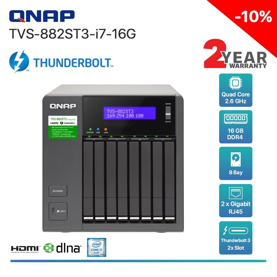 QNAP TVS-882ST3-i7-16G  8-Bay Thunderbolt