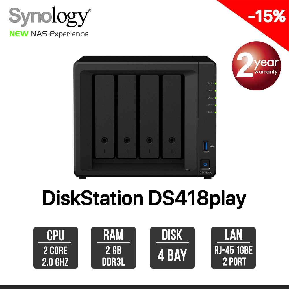 Synology DiskStation DS418play 4-bay NAS
