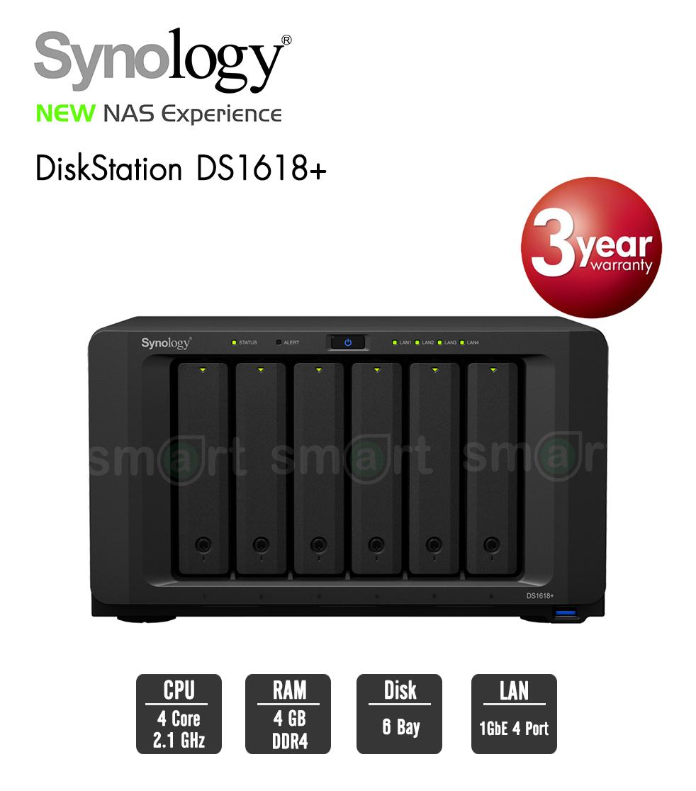 Synology DiskStation DS1618+ 6-bay NAS