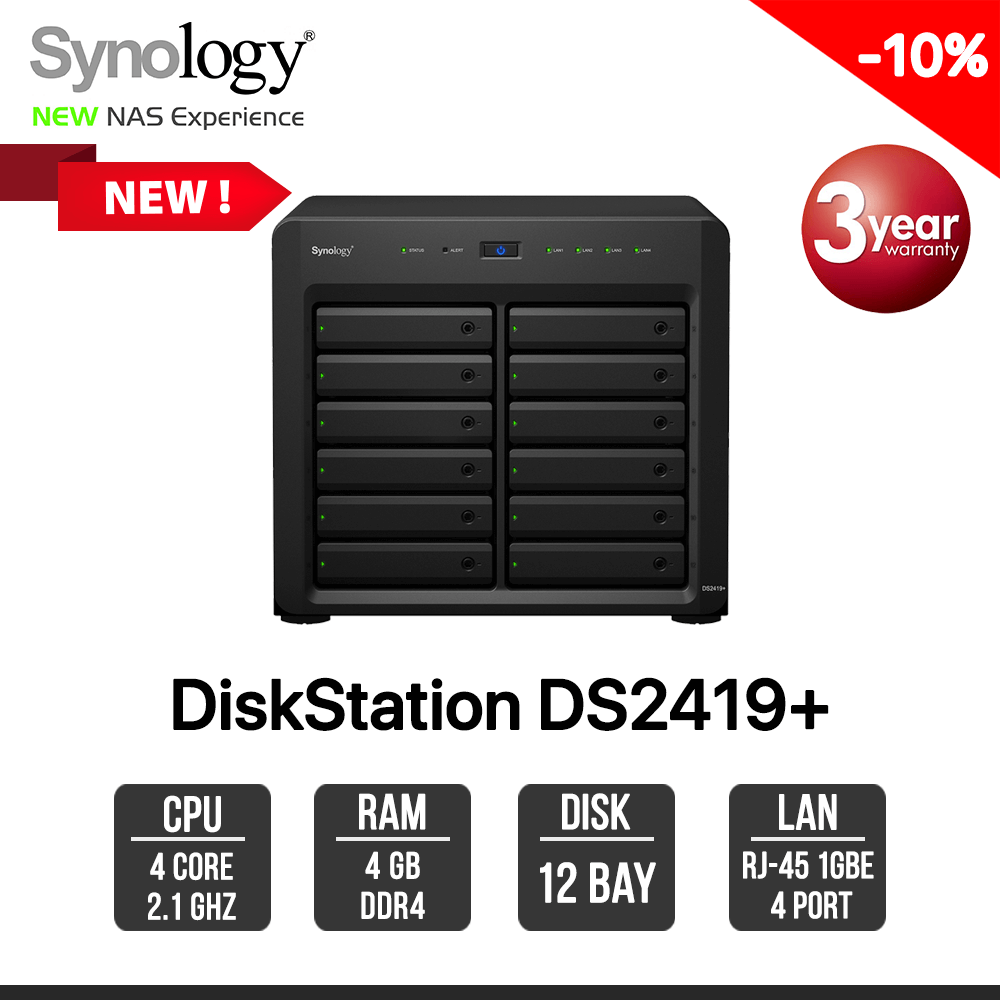 Synology DiskStation DS2419+ 12-Bay NAS