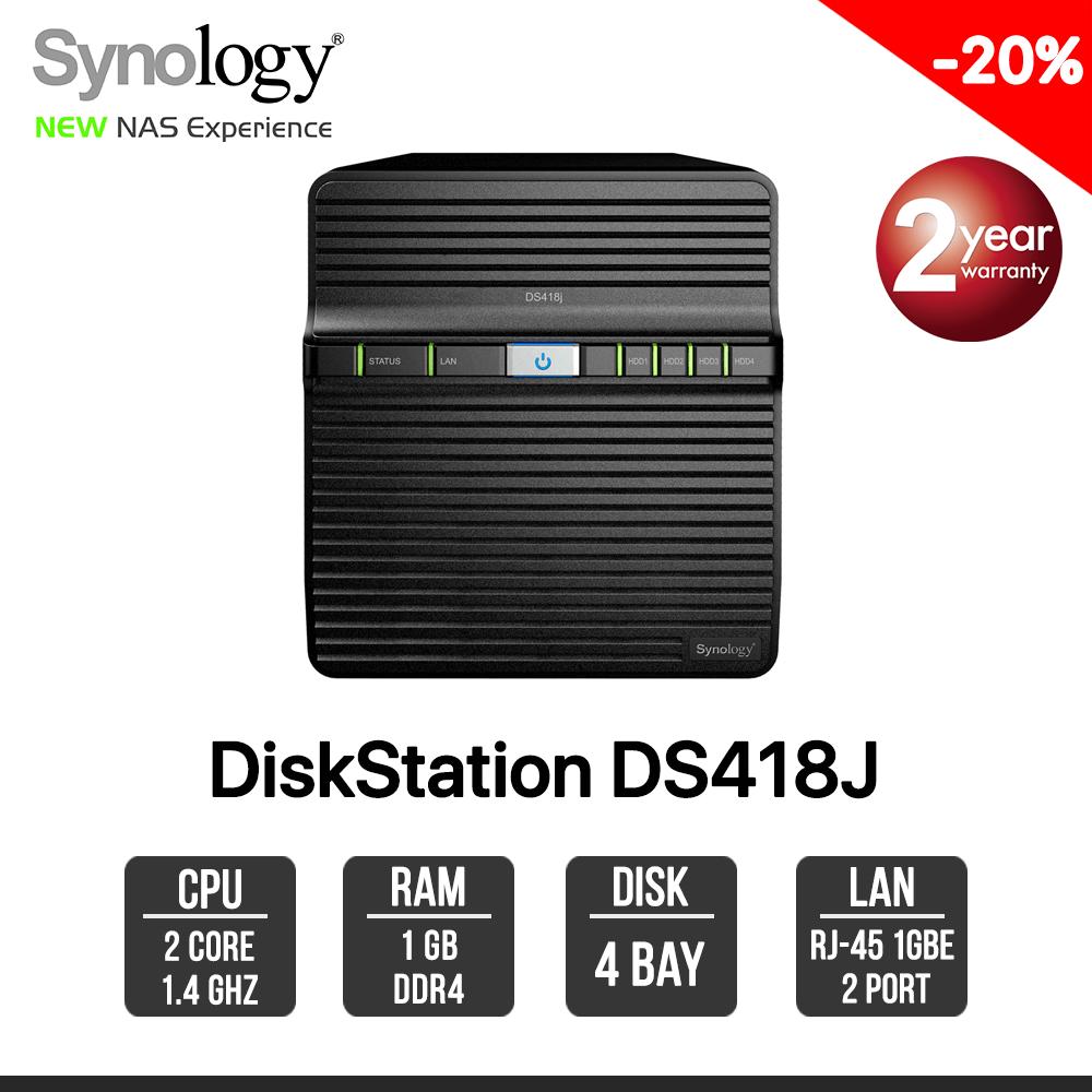 Synology DiskStation DS418j 4-bay NAS