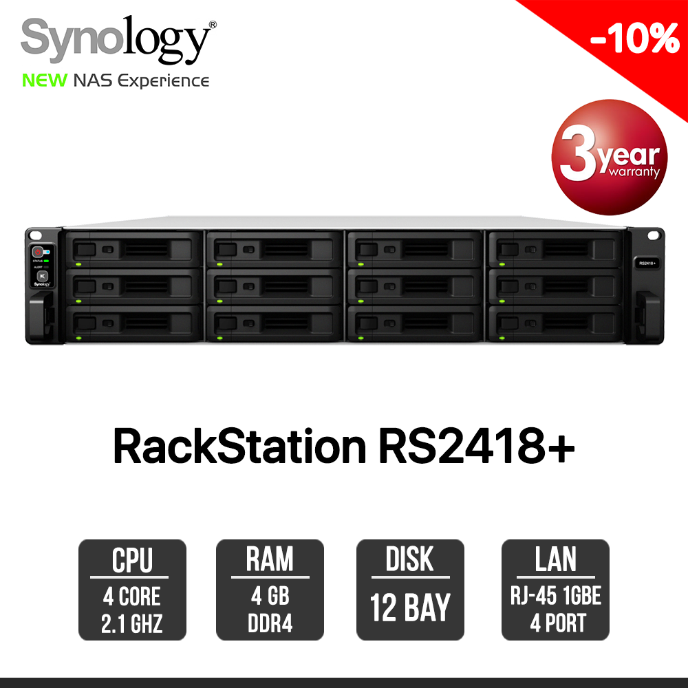 Synology RackStation RS2418+ 12-Bay NAS