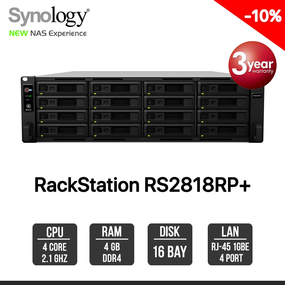 Synology RackStation RS2818RP+ 16-bay NAS