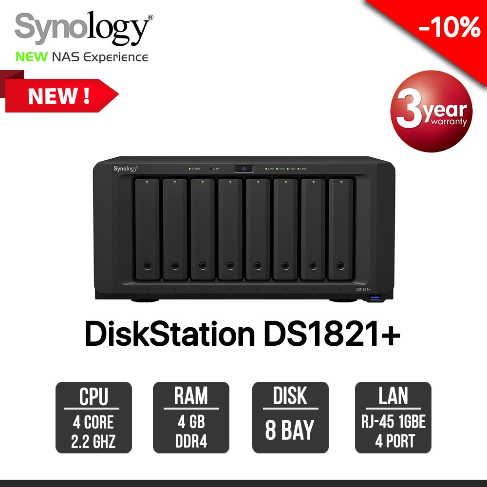 Synology DiskStation DS1821+ 8-Bay NAS