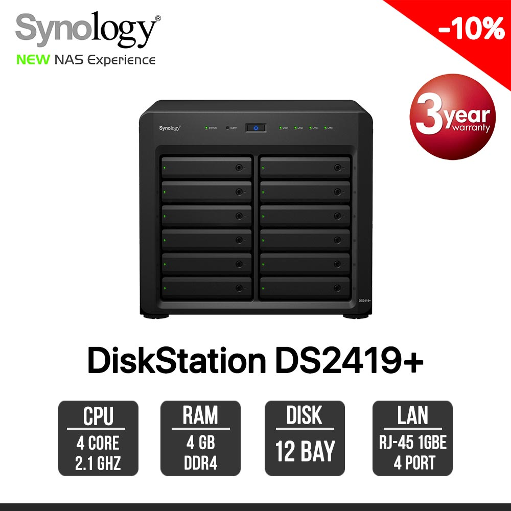 Synology DiskStation DS2419+ 12-Bay NAS