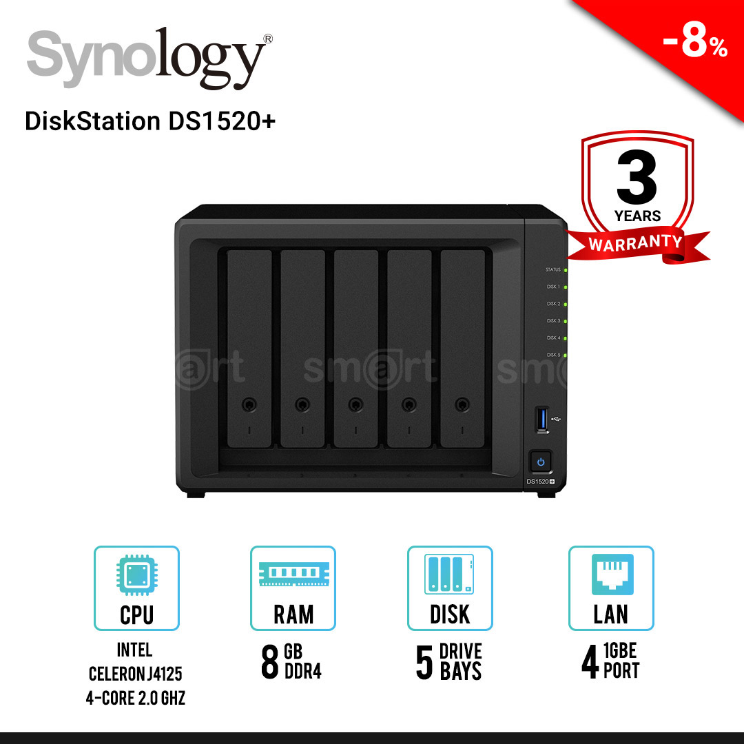 Synology DiskStation DS1520+ 5-Bay NAS