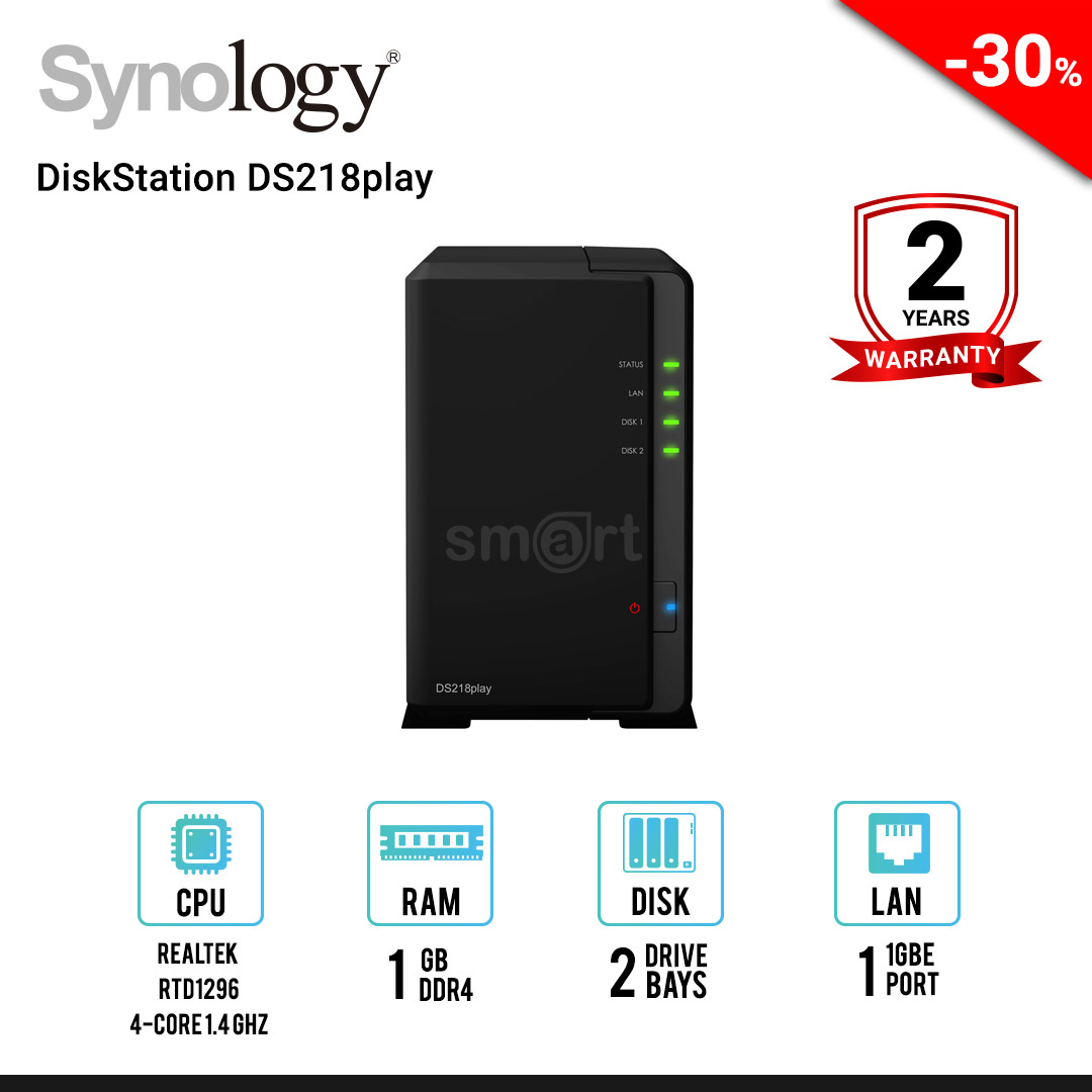 Synology DiskStation DS218play 2-Bays NAS