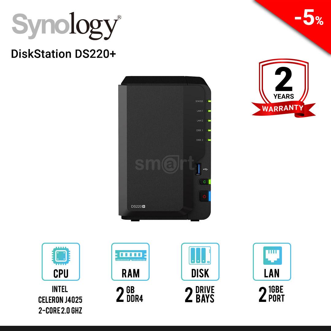 Synology DiskStation DS220+ 2-bay NAS