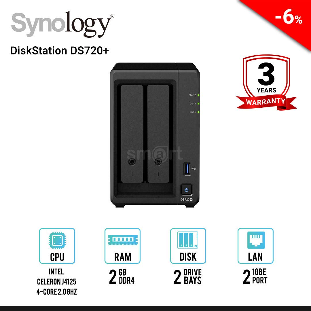 Synology DiskStation DS720+ 2-bay NAS
