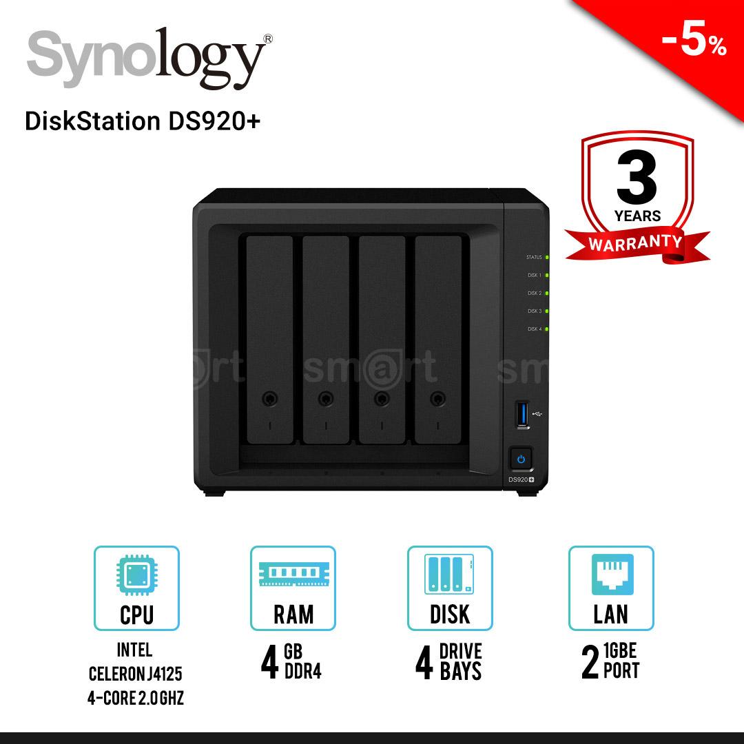 Synology DiskStation DS920+ 4-bay NAS