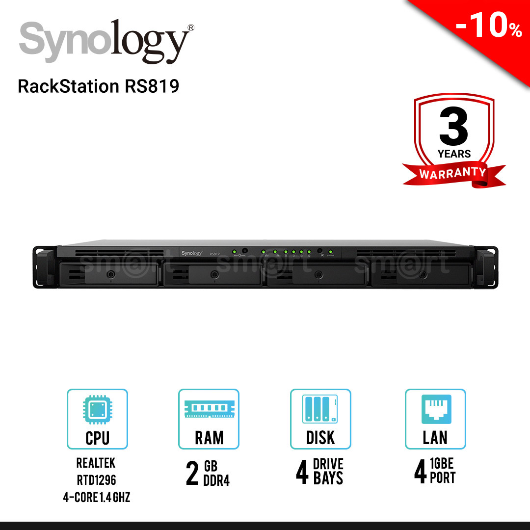 Synology RackStation RS819 4-Bay NAS