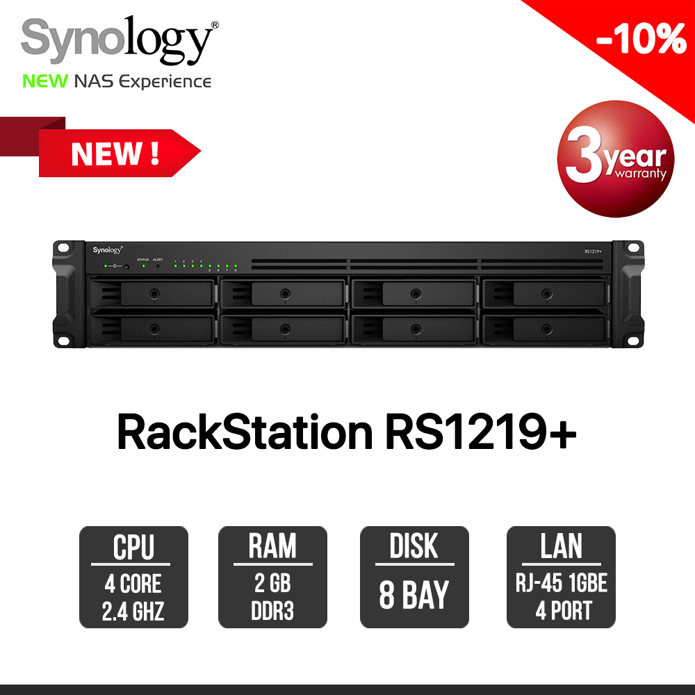 Synology RackStation RS1219+ 8-Bay NAS