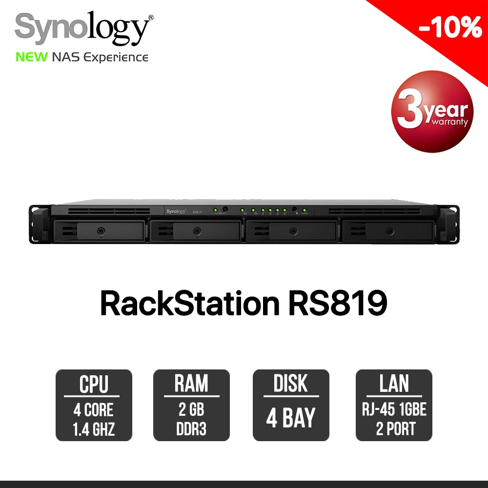 Synology RackStation RS819 4-Bay NAS