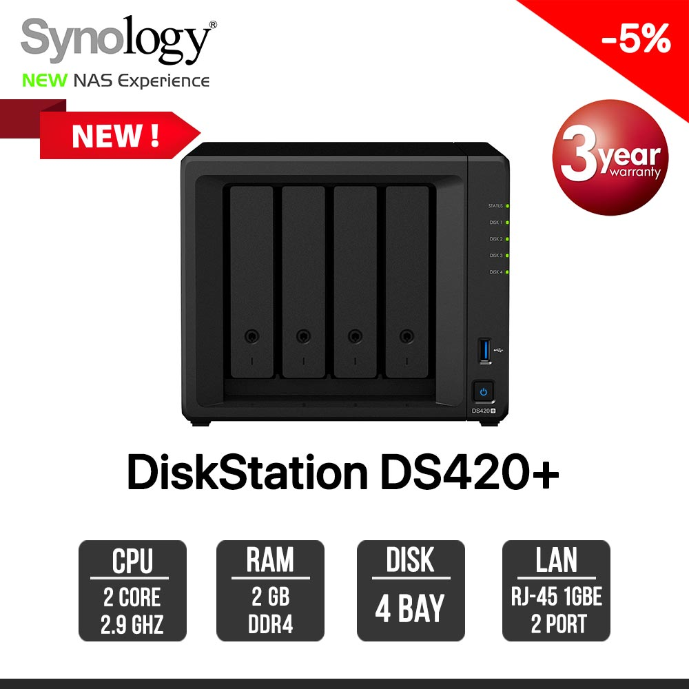 Synology DiskStation DS420+ 4-bay NAS